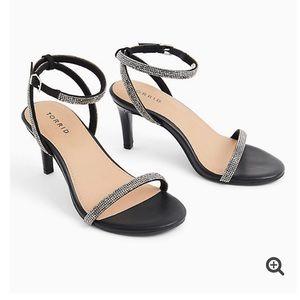 Torrid Faux Leather Rhinestone Heels Size 9W NWT